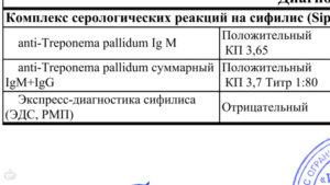 AT к Treponema pallidum (igm+igg) - обнаружено,