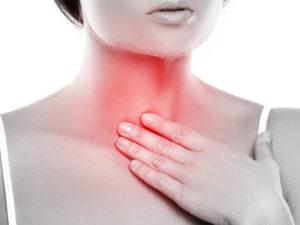 Колющая боль в шее спереди