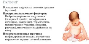 Вульвит у грудничка