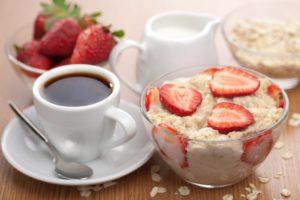 Творог с чаем (кофе)