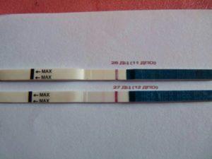 Слабоположительные тесты на беременность