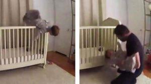Ребёнок выпал из кроватки