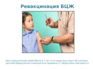 Ревакцинация бцж в 6 лет