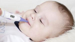 У месячного ребенка температура 37.7 под мышкой