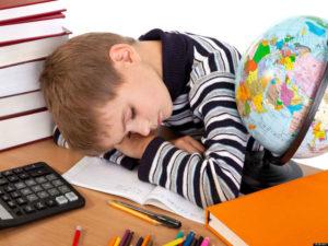 Очень хочу спать после школы