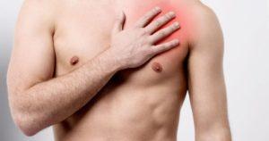 Сильные поддергивания под левой грудью