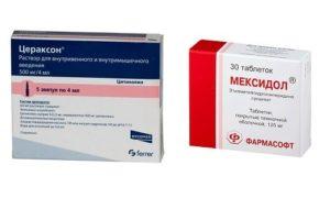 Приём Препаратов мексидол, церетон