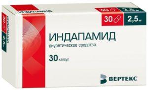 Побочный эффект от бисопролола и индопамида