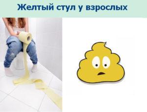 Ярко желтый цвет кала