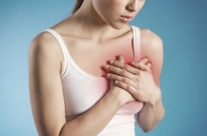 Болит грудь, покраснение, температура
