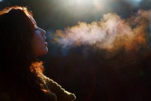Чувство что вдыхаю холодный воздух