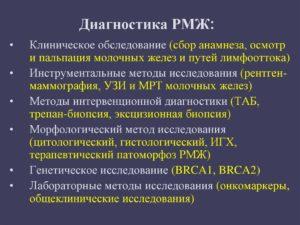 Достоверность диагноза рак молочной железы