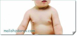 Уплотнение в груди у грудничка