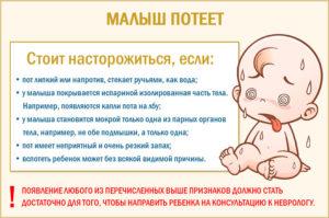 Ребёнок, потеет во сне после болезни норма или нет?