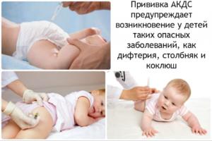 Третья прививка Акдс