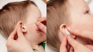 Острая боль при закапывании капель в ухо