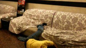 Упал с дивана